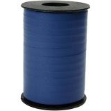 Geschenkband, Blau, B: 10 mm, Matt, 250 m/ 1 Rolle
