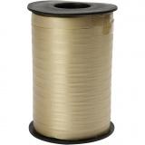 Geschenkband, Gold, B: 10 mm, Matt, 250 m/ 1 Rolle