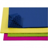 Wabenpapier - Sortiment, Sortierte Farben, 28x17,8 cm, 4x2 Bl./ 1 Pck.