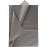 Seidenpapier, Dunkelgrau, 50x70 cm, 14 g, 10 Bl./ 1 Pck.