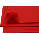 Harmonika-Papier, Rot, 28x17,8 cm, 8 Bl./ 1 Pck.