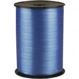 Kräuselband, Blau, B: 10 mm, Glänzend, 250 m/ 1 Rolle