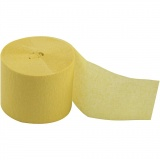Krepppapier-Streifen, Gelb, L: 20 m, B: 5 cm, 20 Rolle/ 1 Pck.