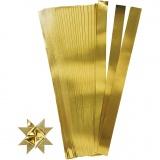 Papierstreifen für Fröbelsterne, Gold, L: 45 cm, D: 6,5 cm, B: 15 mm, 100 Streifen/ 1 Pck.