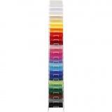 Farbkarton mit Display-Ständer, Sortierte Farben, H: 1700 mm, A4, 210x297 mm, 24x100 Bl./ 1 Pck.