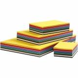 Farbkarton, Sortierte Farben, A2,A3,A4,A5,A6, 180 g, 1800 Bl. sort./ 1 Pck.
