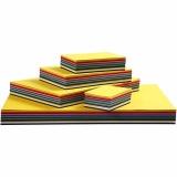 Farbkarton, Sortierte Farben, A3,A4,A5,A6, 180 g, 1500 Bl. sort./ 1 Pck.