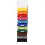 Farbkarton mit Display-Ständer, Sortierte Farben, H: 900 mm, A4, 210x297 mm, 12x100 Bl./ 1 Pck.