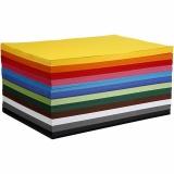 Farbkarton, Sortierte Farben, A2, 420x594 mm, 180 g, 12x100 Bl./ 1 Pck.