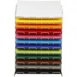 Farbkarton mit Display-Ständer, Sortierte Farben, H: 900 mm, A2, 420x594 mm, 12x100 Bl./ 1 Pck.