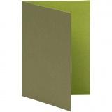 Briefkarte, Mintgrün/Dunkelgrün, Kartengröße 10,5x15 cm, 250 g, 10 Stck./ 1 Pck.