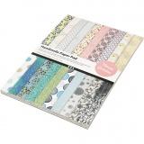 Handgeschöpftes Papier - Sortiment, A4, 210x297 mm, 110 g, 20 Bl./ 1 Pck