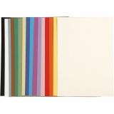 Französischer Karton, Sortierte Farben, A4, 210x297 mm, 160 g, 16 Bl. sort./ 1 Pck.