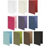 Briefkarte, Sortierte Farben, Kartengröße 10,5x15 cm, Inhalt kann variieren , 250 g, 30 Pck/ 1 Pck