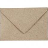 Recycling Umschläge, Beige, Umschlaggröße 7,8x11,5 cm, 120 g, 50 Stck./ 1 Pck.