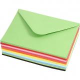 Farbige Briefumschläge, Umschlaggröße 11,5x16 cm, 80 g, 10x10 Stck./ 1 Pck.