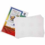 Stickkarton, Weiß, Größe 23x33 cm, 3x3 Löcher pro cm , 10 Bl./ 1 Pck.