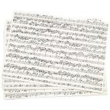 Kraftpapier, Musiknoten, A4, 210x297 mm, 100 g, 10 Bl./ 1 Pck