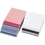 Farbige Tischkarten, Größe 9x4 cm, Inhalt kann variieren , 250 g, 200 Stck./ 1 Pck.