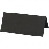 Tischkarten, Schwarz, Größe 9x4 cm, 220 g, 10 Stk/ 1 Pck