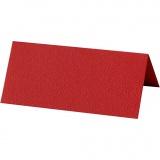 Tischkarten, Rot, Größe 9x4 cm, 220 g, 10 Stck./ 1 Pck.