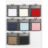 Tischkarten, Sortierte Farben, Größe 9x4 cm, 220 g, 8x10 Pck/ 1 Pck