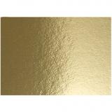 Metallic-Folienkarton, Gold, A4, 210x297 mm, 280 g, 10 Bl./ 1 Pck.