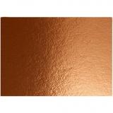 Metallic-Folienkarton, Kupfer, A4, 210x297 mm, 280 g, 10 Bl./ 1 Pck.