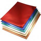Metallic-Folienkarton, Sortierte Farben, A4, 210x297 mm, 280 g, 30 Bl. sort./ 1 Pck.