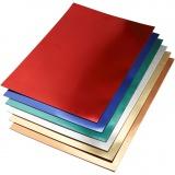 Metallic-Folienkarton, Sortierte Farben, A2, 420x600 mm, 280 g, 30 Bl. sort./ 1 Pck.