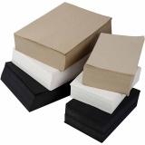 Kraftpapier, Schwarz, Grau, Edel, Weiß, A3,A4, 100 g, 6000 Bl. sort./ 1 Pck