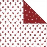Design-Papier - Sortiment, Herzen / Eiskristalle, 30,5x30,5 cm, 180 g, 3 Bl./ 1 Pck.