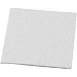 Leinwandplatte, Weiß, Größe 10x10 cm, 280 g, 10 Stck./ 1 Pck.