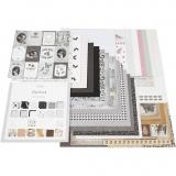 Design-Papier im Block, Größe 30,5x30,5 cm, 50 Bl./ 1 Stck.