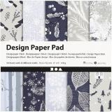 Design-Papier im Block, Blau, Grau, 15,2x15,2 cm, 120 g, 50 Bl./ 1 Pck.