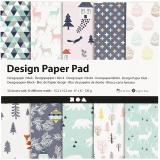 Design-Papier im Block, Hellgrün, Rosa, Weiß, 15,2x15,2 cm, 120 g, 50 Bl./ 1 Pck.