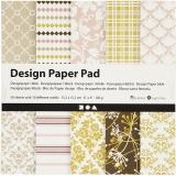 Design-Papier im Block, Grün, Rosa, 15,2x15,2 cm, 120 g, 50 Bl./ 1 Pck.