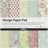 Design-Papier im Block, Mintgrün, Flieder, 15,2x15,2 cm, 120 g, 50 Bl./ 1 Pck.