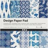 Design-Papier im Block, Blau, 15,2x15,2 cm, 120 g, 50 Bl./ 1 Pck.