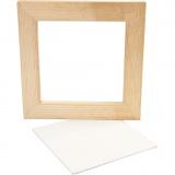 Gerahmte Leinwand, Weiß, Größe 20,8x20,8 cm, 1 Stck.