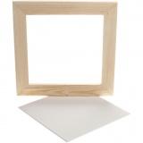 Gerahmte Leinwand, Weiß, Größe 25,8x25,8 cm, 1 Stck.