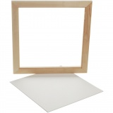 Gerahmte Leinwand, Weiß, Größe 35,8x35,8 cm, 1 Stck.