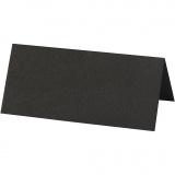 Tischkarten, Schwarz, Größe 9x4 cm, 220 g, 20 Stk/ 1 Pck