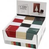 Karten & Kuverts im Set mit Display, Kartengröße 10,5x15 cm, Umschlaggröße 11,5x16,5 cm, 12x10 Pck./ 1 Pck.