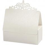 Schachtel, Naturweiß, Größe 3,5x3,5x8,5 cm, 230 g, 5 Stck./ 1 Pck.