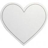 Herz, Weiß, Größe 75x69 mm, 120 g, 10 Stck./ 1 Pck.
