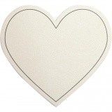 Herz, Naturweiß, Größe 75x69 mm, 120 g, 10 Stck./ 1 Pck.