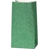 Papiertüten, Grün, H: 17 cm, Größe 6x9 cm, 150 g, 8 Stck./ 1 Pck.