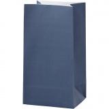 Papiertüten, Blau, H: 17 cm, Größe 6x9 cm, 80 g, 10 Stck./ 1 Pck.