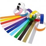 Papierketten, Sortierte Farben, L: 16 cm, B: 15 mm, 2400 Stck./ 1 Pck.